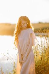 DSC00965 (KirillSokolov) Tags: blue sonya7ii girl portrait summer sunset ru russiasony canon8518 cute dress sexy pretty девушка портрет сони беззеркалка лето закат солнце поле россия платье милая юная секси кириллсоколов kirillsokolov mirrorlessredhead redhair рыжая