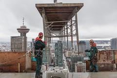 Vancouver BC - Exchange Tower (11) (doublevision_photography) Tags: vancouver vancouvercity vancouverrealestate vancouverbc vancouverskyline vancity vancouvercanada jasocrane constructioncrane vancouverconstruction roofing vancouverroofing contruction towercranephotography flyingtables tableflying