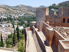 Granada -  view from Alcazaba (be there...) Tags: spanien andalusia alhambra alcazaba granada spain fortifikation fort andalusien generalife landscape landschaft krajobraz fortyfikacje ciudadela