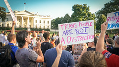 2017.07.26 Protest Trans Military Ban, White House, Washington DC USA 7645
