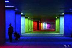 Who doesn't like colors? (Jan Slob) Tags: rotterdam museumpark zuidholland netherlands holland museum colors galerij lichtinstallatie peterstruycken nikon nikond750 nederlandsarchitectuurinstituut nai ©allrightsreserved silhouette explore