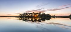 Hatchet Sunset (Nick L) Tags: hatchet hatchetpond beaulieu hampshire reflection uk england sunset greatbritain landscape waterscape clouds canon5d3 eos 5d 5d3 outdoor newforest ripple sky pond serene water lake