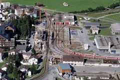 Andermatt - Station MGB (Kecko) Tags: 2017 kecko switzerland swiss schweiz suisse svizzera innerschweiz zentralschweiz uri andermatt matterhorngotthardbahn mgb station bahnhof railway railroad eisenbahn bahn swissphoto geotagged geo:lat=46639150 geo:lon=8600950