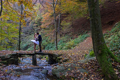 A Kiss In The Woods (Madelung11) Tags: kiss woods wood bosco italia italy love couple amore canon composition exposure colori autunno leaves colours autmn foliage reflex happiness ballet dancer ballerina atmosphere fiaba magic magia