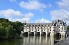 Chenonceau (dfromonteil) Tags: castle château chenonceau building france cher river rivière water sky ciel bleu blue green vert grey gris pierre stone reflet reflection