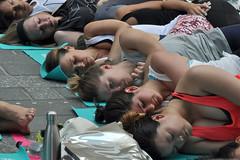 onside (greenelent) Tags: yoga timessquare nyc newyork women streets 365 photoaday