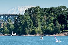abby sails! (Ben McLeod) Tags: mtsainthelens oregon portland rossislandbridge willametteriver boat river sailing sailingcamp
