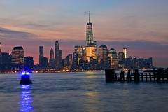 View Of Lower Manhattan From Pier A Hoboken NJ (pmarella) Tags: pmarella riverviewpkproductions hudsonriver onthewaterfront icoverthewaterfront hoboken reflections lowermanhattan