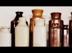 old ceramic bottles (Jackal1) Tags: bottles old 50mm ceramic objects