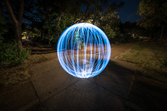 X Marks the Spot (Lightcrafter Artistry) Tags: longexposure nightphotography lightpainting orb solitary