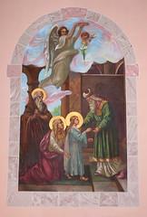 St. Adalbert Holy Family and Green Robe Mural (Jay Costello) Tags: stadalbertromancatholicbasilica stadalbert romancatholic church basilica worship god religion newyork buffalo ny holyfamily jesusmaryandjoseph mary stjoseph