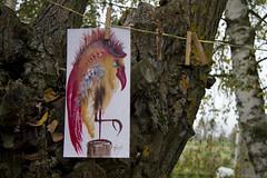 """Mr. Bird"" (AnnaHannahArt) Tags: bird cute plain air country tree nature eartday village"