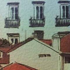 I feel very excited with my new #watercolor project. Windows detail. Good night #avedouda #thingswithsoul #watercolor #painting #illustration #windows #roofs #traditional #view #roomwithaview #detail #madebyme #onlineshop #smallbusinessowner #smallbusines (alexandrafariadealmeida) Tags: instagramapp square squareformat iphoneography uploaded:by=instagram perpetua watercolor painting roofs coimbra houses city watercolour