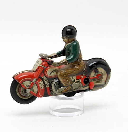 Vintage Schuco Curvo #1000 Tin Litho Toy Motorcycle ($224.00)