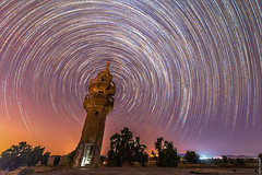 Star Trails Around Abandoned Mosque (barak.shacked) Tags: starstax night חשיפהארוכה stars רמתהגולן מבנהנטוש longexposure oldhouse nightphotography mosqueatnight thegolanheights mosque star startrail nightshoots sky abandonedbuildings oldbuilding nightshoot צילוםלילה nightsky