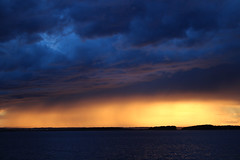 Stormy night (Ib Aarmo) Tags: sky skies cloud clouds sea fjord water evening sunset sundown storm stormy light colors dramatic outdoor nature