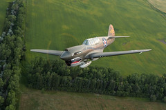 Curtis P-40E Warhawk (jetguy1) Tags: curtisp40ewarhawk warbird wwii fighter aviation air2air airplane flyingtigers
