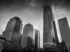Center of Finance (C@mera M@n) Tags: architecture blackandwhite city cityscape manhattan monochrome ny nyc newyork newyorkcity newyorkcityphotography newyorkphotography places urban building outdoors skyscrapers
