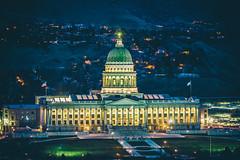 Sunsets on Salt Lake City (Thomas Hawk) Tags: america government slc saltlakecity usa unitedstates unitedstatesofamerica utah utahstatecapitol utahstatecapitolbuilding architecture politics sunset us fav10 fav25 fav50