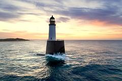 Sunset at Rattray Head (iancowe) Tags: rattray head lighthouse rattrayhead rattrayheadlighthouse rattraylighthouse sunset evening dusk red sky sea stevenson nlb northernlighthouseboard scotland scottish peterhead fraserburgh aberdeenshire rock tower waves north drone dji aerial djiphantom4pro phantom 4 pro