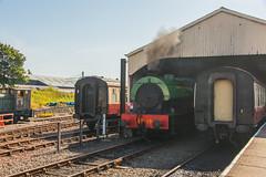 Bo'ness & Kinneil Railway - NCB (060ST) Engine No 9 Emerging 3 (Le Monde1) Tags: boness kinneil lemonde1 nikon d800e museum heritage uk bonesskinneilrailway museumofscottishrailways ncb 060st engine no9 shunting engineers footplate scotland steam railway
