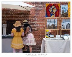 Two Women, Street Art Vendors (G Dan Mitchell) Tags: manhattan newyork city start street art photography two women umbrella table brick wall painting urban usa north america