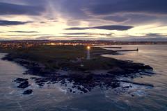 Girdle Ness in the twilight (iancowe) Tags: lighthouse girdle ness night sunset twilight dusk harbour sea scotland scottish torry coo bay nigg stevenson nlb northernlighthouseboard breakwater girdleness