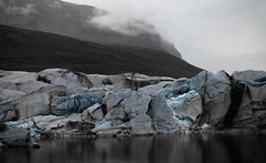 Svínafellsjökull II (Jack Landau) Tags: svínafellsjökull glacier pond murky water sky clouds landscape nature iceland jack landau ice glacial