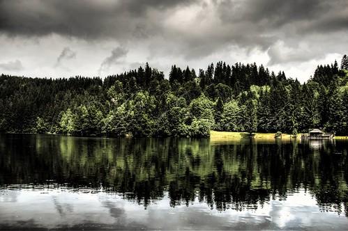 By lake