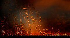 H2O (Owen J Fitzpatrick) Tags: ojf people photography nikon fitzpatrick owen j joe pretty pavement chasing d3100 ireland editorial use only ojfitzpatrick eire dublin republic city tamron sky raindrop gold golden sunset window glass abstract abstraction texture yellow h20 water rain drop