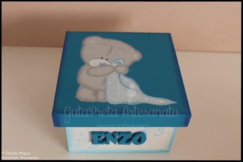 """Caixa de recordações de bebé """"Winter Furry Bear III"""""""