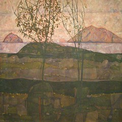 Egon Schiele, Setting Sun, 1913 (DeBeer) Tags: museumsquartier wien vienna austria leopoldmuseum egonschiele schiele settingsun artnouveau sezession landscape 1913 1910s 20thcenturypainting early20thcentury