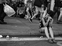 .> (dagomir.oniwenko1) Tags: street style sigmadc1750 canon candid blackandwhite bw mono people portret person girl gb female sitting life london england