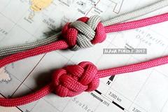7x4 knots with 3-pass in the middle (A L A N A) Tags: ring cylinder cylindrical lanyard knot alana forest alanaforest stopper