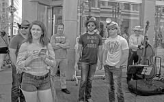 Calgary Stampede, Downtown Action (Sherlock77 (James)) Tags: calgary downtown stephenavenue streetphotography people man woman cowboyhat