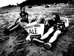On sale, uh? (raisukma) Tags: panasonic lumix dmcfx520 fx520 indonesia bali street streetphotography grain beach family asia