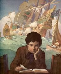 N C Wyeth, 1922 (geldenkirchen) Tags: ncwyeth painting 1922 imagination illustration