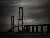 Oresund Bridge (gwshamb) Tags: water denmark bridge transportation landscape oresund copenhagen suspension