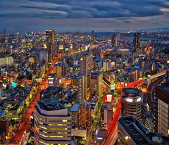Osaka Amazement (Stuck in Customs) Tags: japan osaka stuckincustomscom treyratcliff rcmemories aurorahdr hdr hdrtutorial hdrphotography night long exposure x1d hasselblad