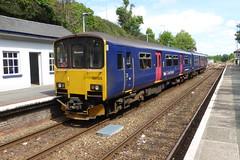 150128 at Liskeard (davidvines1) Tags: railroad rail train dmu liskeard gwr firstgreatwestern class150 multipleunit diesel sprinter brel station