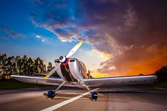 Read to fly!!!! (Johnson Barros) Tags: paixão passion propeler hélice essay santosdumont color cor vivid blue clouds orange wing ground céu sky aircraft airplane aerbatics aerobatic acrobatico aeronave ensaiofotografico homebuilding rv6
