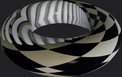 Black & White Rivalry turns 3D (unclebobjim) Tags: villacavrois croix photoscapex stripes checks blackwhite rivalry torus 3d