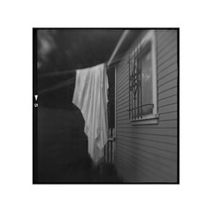 clothes line ( #5) (tomusan) Tags: film browniehawkeye flippedlens arista400 brownie blackandwhite bw clothesline laundry square