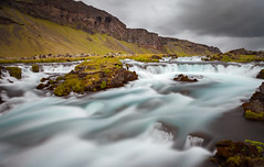 Glacial Water (Jack Landau) Tags: waterfall water fall iceland glacial blue river stream long exposure shutter drag landscape nature rocks mountains clouds jack landau