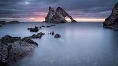 Sunrise at the Bow Fiddle Rock (alancowper) Tags: microfourthirds olympus12100mmf40 m43 olympus bowfiddlerock omd em1 morayfirth