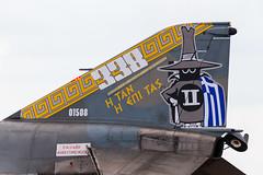 Painted tail on Greek F-4E Phantom (wells117) Tags: 01508 117combatwing 700d canon700d f4e f4ephantom hellenicairforce july2017 riat2017 royalinternationalairtattoo airtattoo aircraft canon clivewells f4 fighter gloustershire greek militaryaircraft phantom planes raffairford dunfield england unitedkingdom