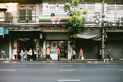 Queue (lorenzoviolone) Tags: 7 eleven bus stop finepix fuji x100s fujifilm store bangkok convenience instax mini grocery locals mirrorless neighborhood road strangers streetphoto streetphotocolor streetphotography travel:southeastasia=2017 waiting 7eleven busstop fujix100s fujifilmx100s conveniencestore fujiinstaxmini grocerystore ontheroad krungthepmahanakhon thailand