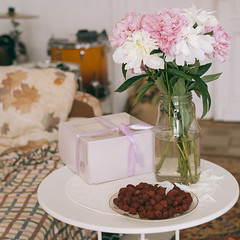 july smells like peony & raspberry (d_downtown) Tags: peonies peony flower naturemort naturemorte nature berries home pink july summer cake cute vsco film drums morning birthday