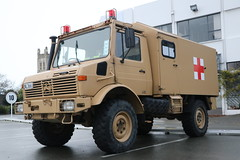 NL 3661 (ambodavenz) Tags: mercedes benz unimog u1300l ambulance vehicle new zealand army defence force timaru south canterbury 4wd four wheel drive