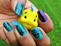 Summer Nails (flores272) Tags: toy toys thelittlemermaid flounder nailstamping nailart nailpolish summernails